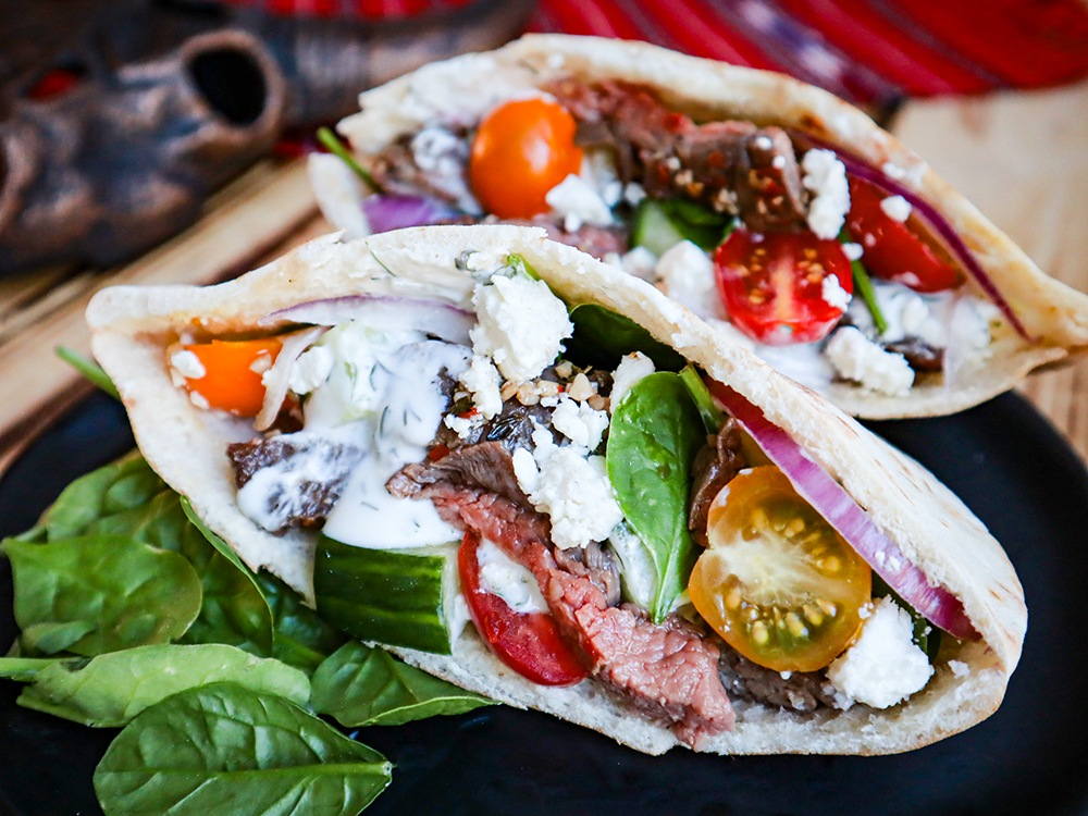 Greek Bison Pitas